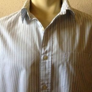 American Eagle Mens Shirt L Button Up Blue White